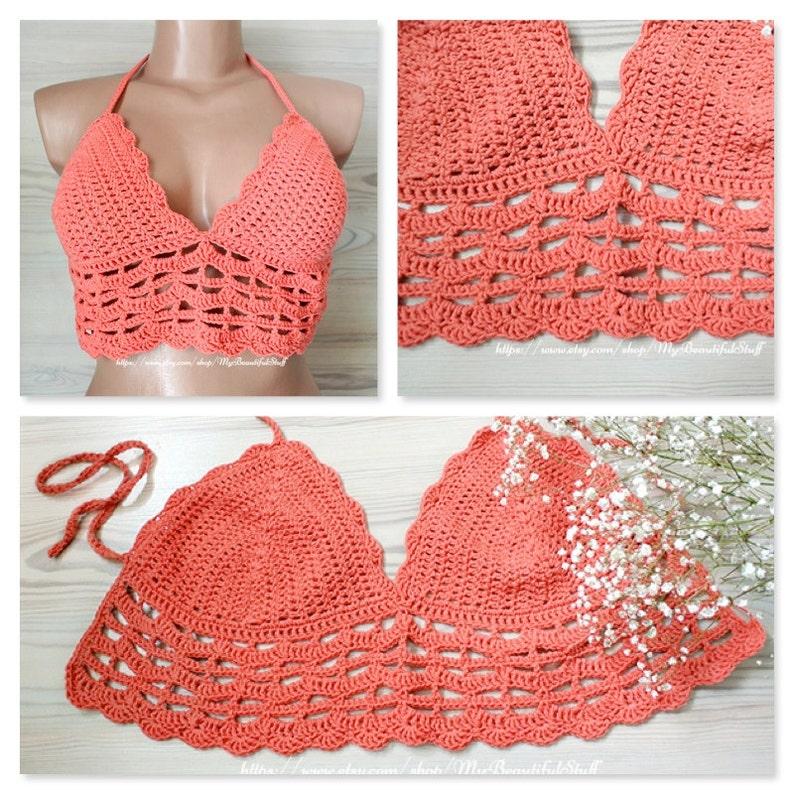 Crochet Pattern Crochet Crop Top Pattern Crochet Lace Top Etsy