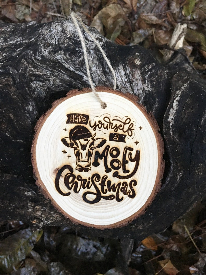 Have yourself a MOOEY Christmas ornament cow ornament