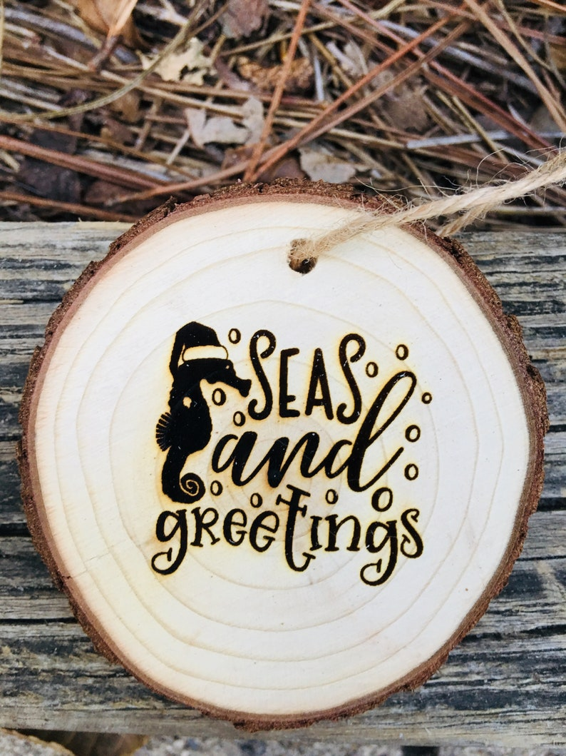 Seas and Greetings Ornament. Nautical Ornament Sea Ornament image 0