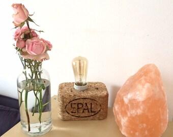 Lampada blocco in truciolare di legno riciclato Pallet