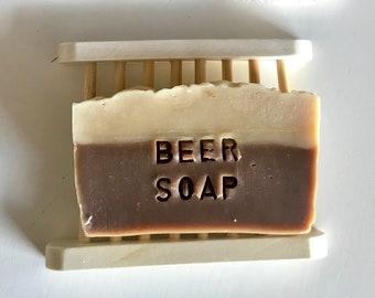 Sapone shampoo solido alla Birra, sapone naturale fatto a mano con olio extravergine di oliva, saponificazione a freddo, Vegan ok, ecologico