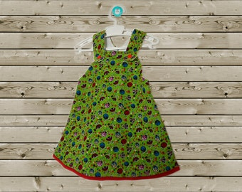 Little girls dress with ladybug print