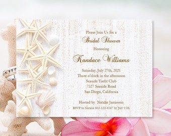 Beach bridal shower etsy bridal shower invitations beach theme tropical wedding shower seashell wedding printable bridal shower diy you print filmwisefo