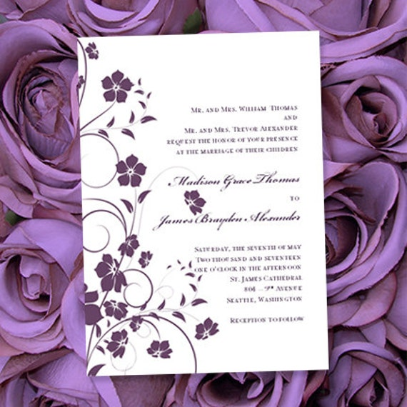 Invitación de boda para imprimir Madison de color | Etsy