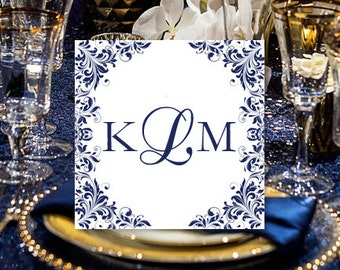 "Labels for Wedding Favors 2 x 2 ""Kaitlyn"" Navy Blue Pocket Fold Wedding Invitations Seal Word.doc Avery 22806 All Colors DIY U Print"
