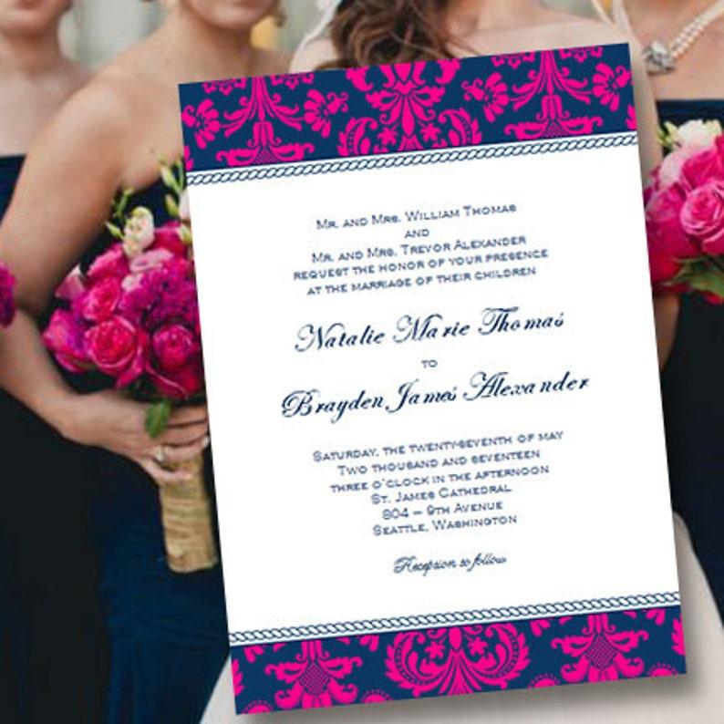 fee06ab006c Plantilla de invitación de boda para imprimir | Etsy