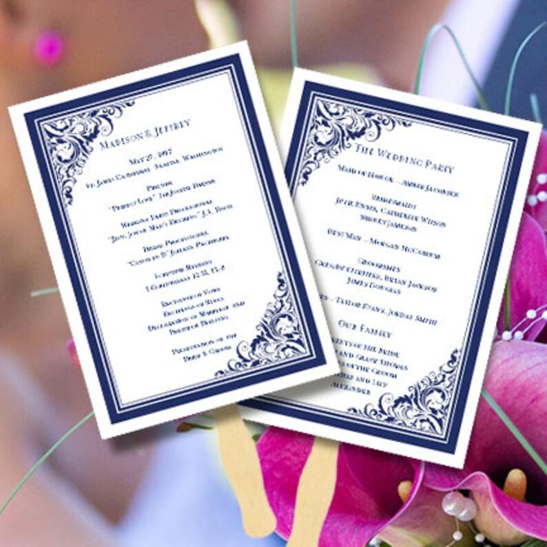Printable Wedding Program Fan Template