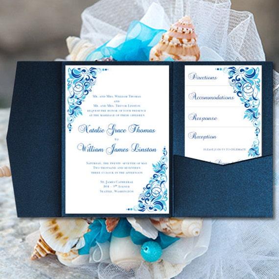 diy pocketfold wedding invitations gianna malibu etsy