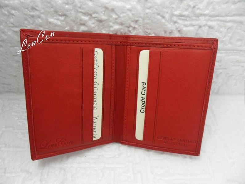 cdd9fc477a Mini Portafoglio Rosso con Incisione Personalizzata per Uomo   Etsy