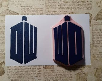 Doctor Who TARDIS Hand Carved Rubber Stamp