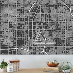 Map of Las Vegas, large canvas, city maps, street map, vintage map, antique map, city maps, map art, city map art, wall art, map decor