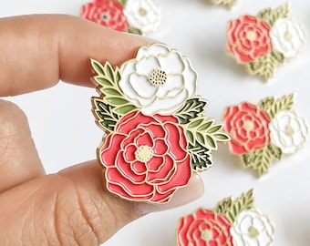Motivational Inspirational Quotes Flower Bouquet Bloom Where You are Planted Cloissone Enamel Lapel Pin