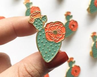Mercedes Prickly Pear Enamel Pin |  | Cute Cactus Enamel Pin | Enamel Pins & Accessories for Plant Lover| Plant Lady Enamel Pin | Brooch