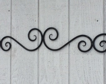 wrought iron wall art etsy. Black Bedroom Furniture Sets. Home Design Ideas