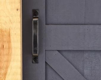 Barn door handle, barn door pull, modern farmhouse barn door pull, iron handle