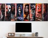SITH Collection Wood Art Panel Set of 8 Darth Vader, Talon, Malgus, Sidious, Nihilus, Maul, Revan and Asajj Ventress,