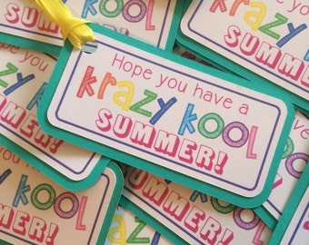 End of school summer thank you tags