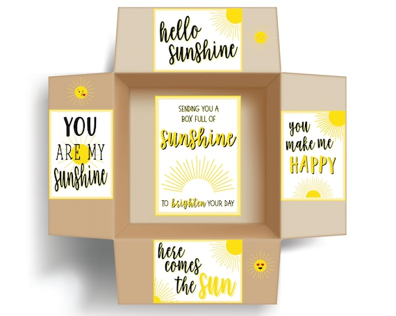 picture about Basket of Sunshine Printable known as Sunlight Box Printables Include Label; Sunlight Treatment Package deal Inserts and Label; Solar Printables; Pondering of By yourself Treatment Bundle Decor