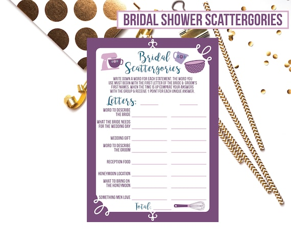 image relating to Scattergories Answer Sheets Printable identified as Kitchen area or Pampered Chef Bridal Shower Scattergories; Bridal Shower Printable Recreation; Teal Red Scattergories Printable Activity
