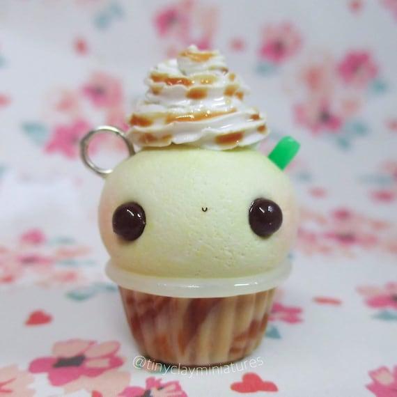 Kawaii Caramel Frappuccino Cupcake Polymer Clay Charm Gift Idea Stich Marker Planner Charm