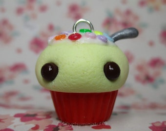 Kawaii cereal cupcake polymer clay charm, Gift Idea ,Stich Marker ,Planner Charm