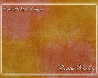 Death Valley - hand dyed linen/aida/evenweave