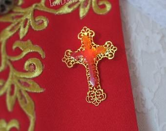 Filligree Cross Brooch Version 2