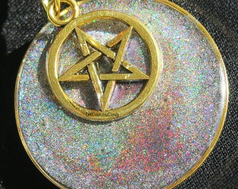 Holographic Star Pendant