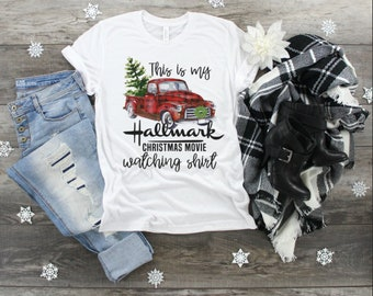 bef5a53777784 PLUS SIZE! This Is My Hallmark Christmas Movie Watching Shirt - Christmas T- Shirt Hallmark Christmas Movies T-Shirt Hallmark T-Shirt