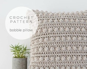 Crochet Pattern | Bobble Pillow,Imediate Downloadable Pattern