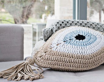 Golden Evil Eye Pillow