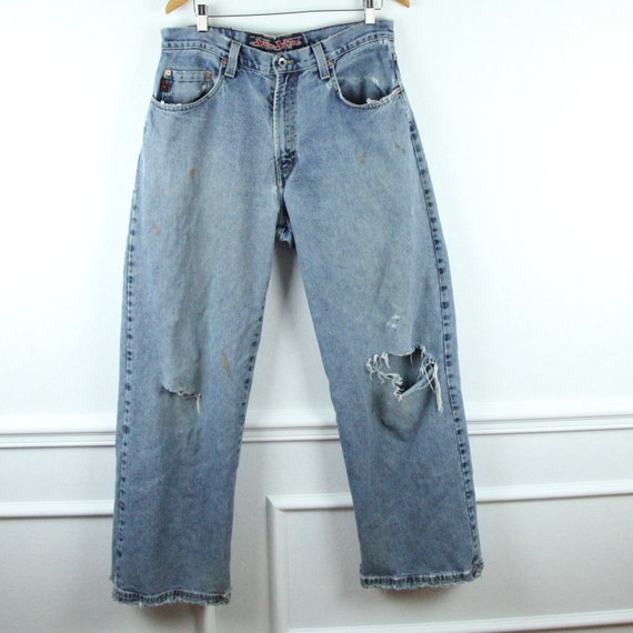 DISTRESSED 90s JNCO Jeans Wide Leg Baggy Skater De