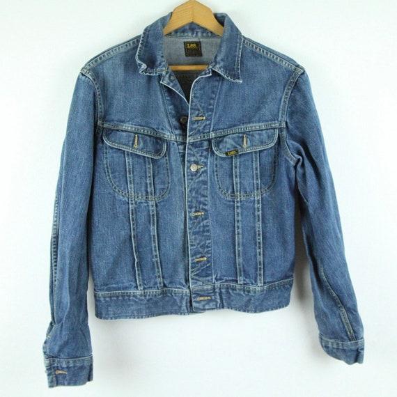 """Vintage Lee Sanforized Jean Jacket Mens M 42"""" USA"""