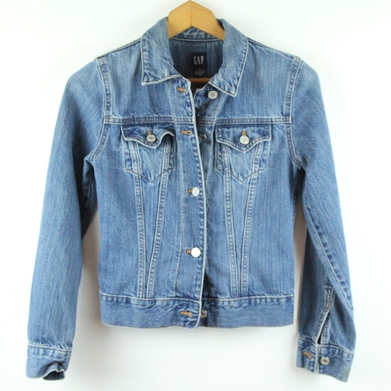 FLAW Vintage 90s Y2K Gap Womens XS Denim Jacket Je