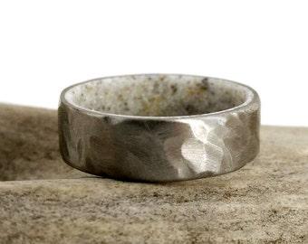Deer Antler Ring, Antler Ring, Men's Ring, Women's Ring, Antler Wedding Ring, Antler Wedding Band, Antler Ring Men, Hammered Ring
