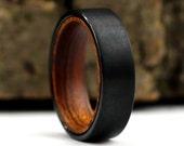 Ironwood Wedding Band, Iron Wood Ring, Black Tungsten Ring, Handmade Ring, Engagement Band, Engagement Ring, 6 mm Ring, Wood Wedding Ring
