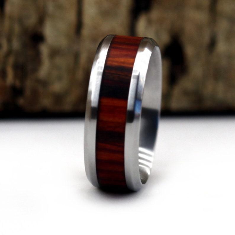 Desert Ironwood Wood Ring 5 Year Anniversary Anvil Rings Men/'s Jewelry Wedding Ring Custom Wood Ring Personalized Ring Wooden Ring