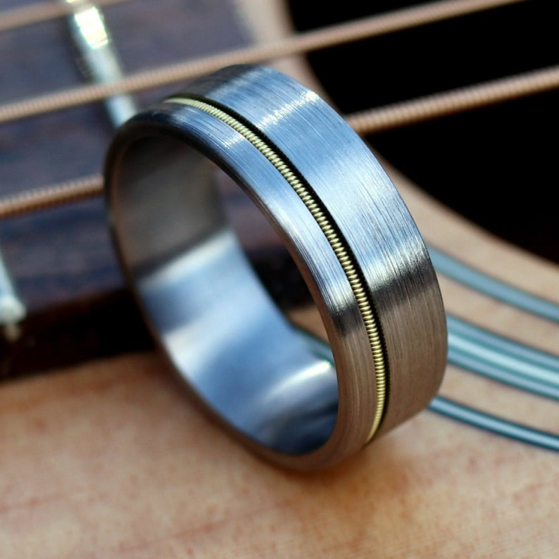 The Zeppelin Guitar String Ring Guitar String Jewelry image 0