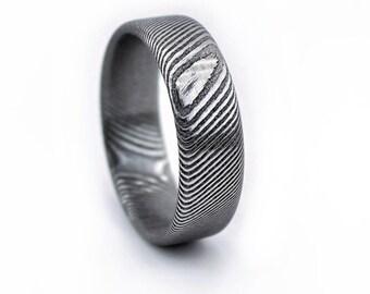Damascus Ring, Damascus Steel Ring, 2018 ring, Unique Men's Ring, Stainless Damascus, Wedding Band, Men's Wedding Ring, Stainless Steel