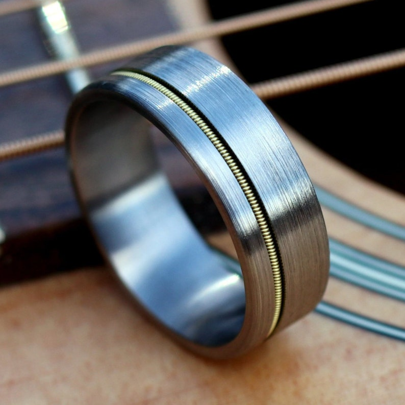 de06f7398024e5 Guitar String Ring Guitar String Jewelry Guitar String   Etsy