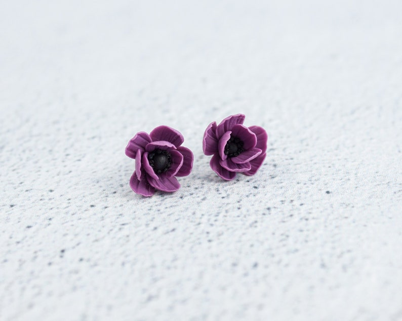9dc632189 Flower stud earrings Mini flowers Polymer clay flowers | Etsy