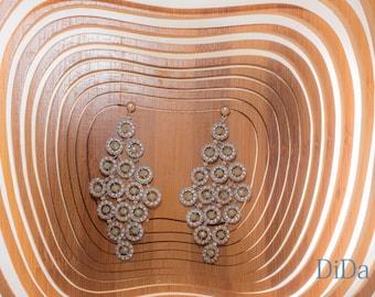 Beautiful Handmade Chandelier earring , Designer Rhomb Earrings, Geometry Harmony, Classic, luxurius
