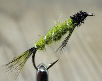 Fly-Fishing-mouches ** 2 mouches ** taille 12 ** ** Bleu Adulte Damsel Fly **