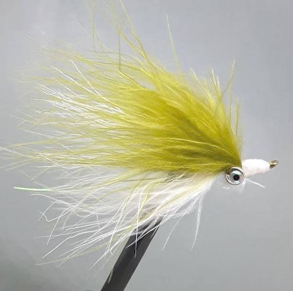 4 x Red /& Yellow Dumbell Clouser Minnow Saltwater Fly Fishing Flies