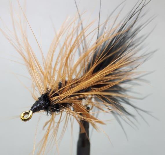 12 3 Marron Marabou Leech Truite Mouches de pêche Mouches Tailles 10