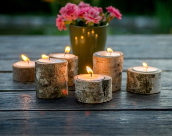 Tree Branch Candle Holders / 6 holders