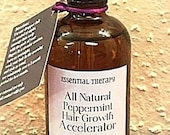 Large 4oz - Peppermint Hair Growth Accelerator - Faster Hair Growth - All Natural Ingredients
