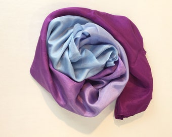 9430ffddb8df7 Purple Dreams and Blue Skies Ombre Silk Scarf