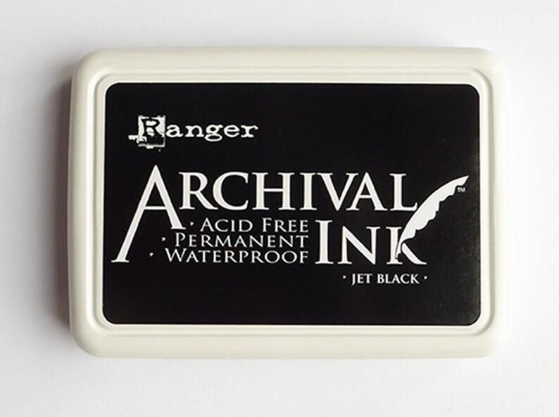 15bd1a8e0a6d7 Pad Ink czarny archiwalne pad atramentu wodoodporny pad | Etsy