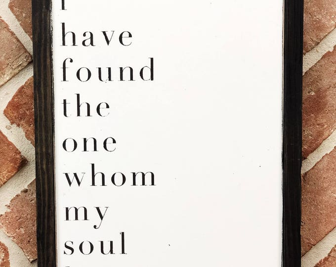 Featured listing image: Song of Solomon Sign